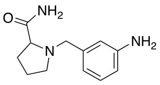 1-[(3-Aminophenyl)methyl]pyrrolidine-2-carboxamide