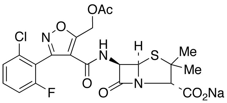 5-Acetyloxymethyl Flucloxacillin Sodium Salt