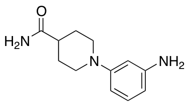 1-(3-Aminophenyl)piperidine-4-carboxamide