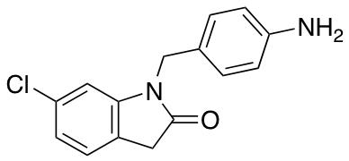 1-[(4-Aminophenyl)methyl]-6-chloro-2,3-dihydro-1H-indol-2-one