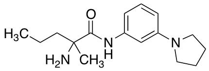 2-Amino-2-methyl-N-[3-(pyrrolidin-1-yl)phenyl]pentanamide