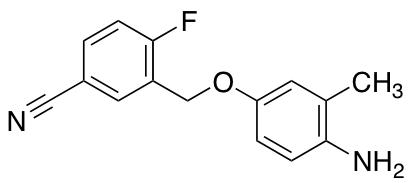 3-(4-Amino-3-methylphenoxymethyl)-4-fluorobenzonitrile