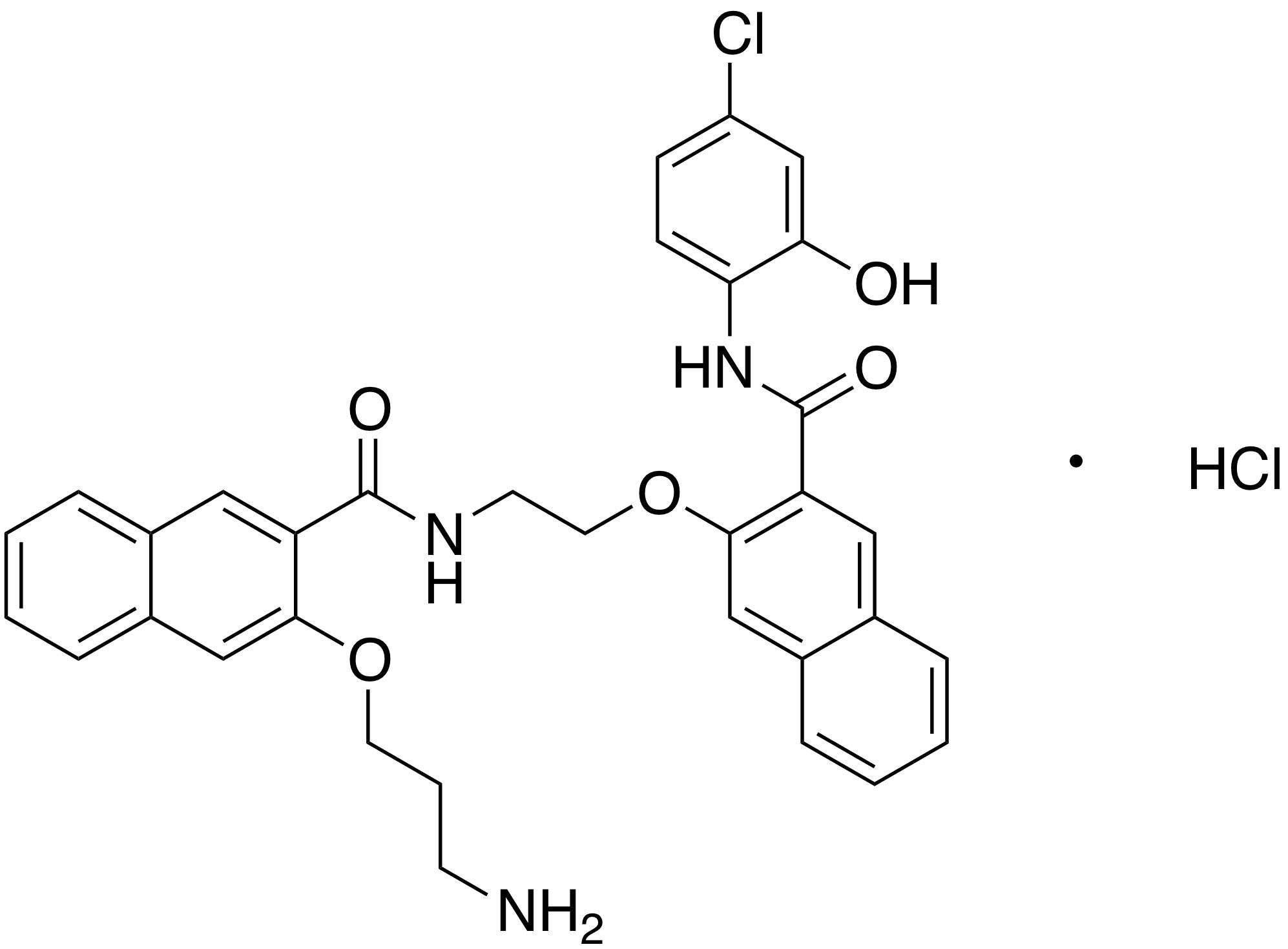 3-(3-Aminopropoxy)-N-[2-[[3-[[(4-chloro-2-hydroxyphenyl)amino]carbonyl]-2-naphthalenyl]oxy]ethyl]-2-naphthalenecarboxamide Hydrochloride