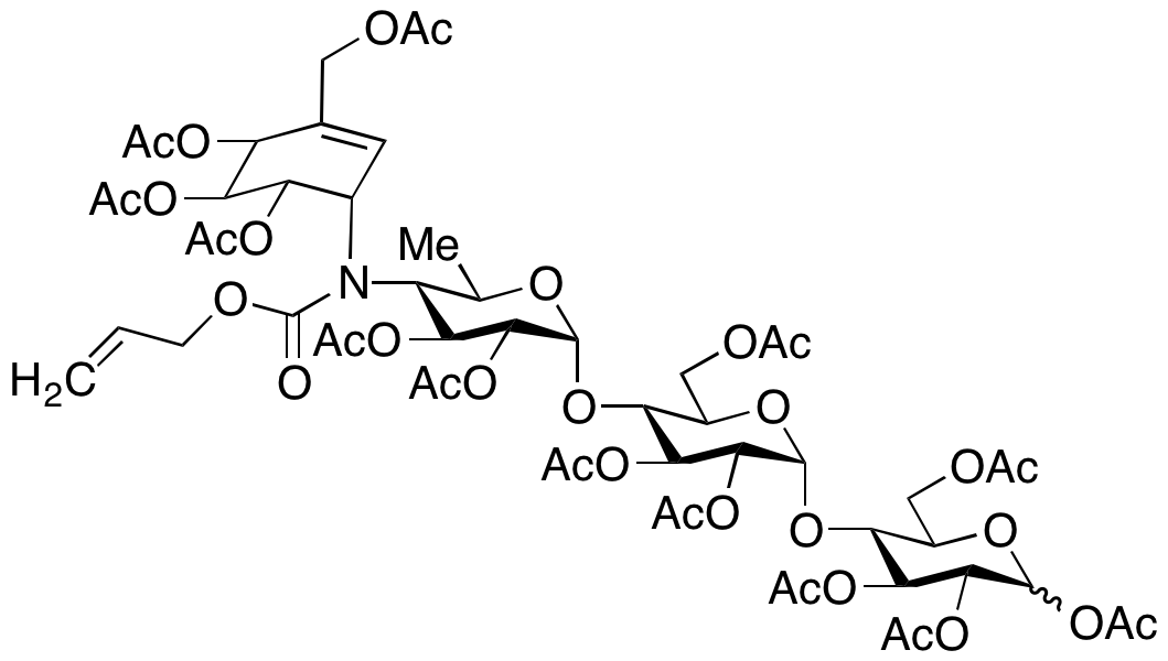 Acarbose-N-allyl Formate Tridecaacetate