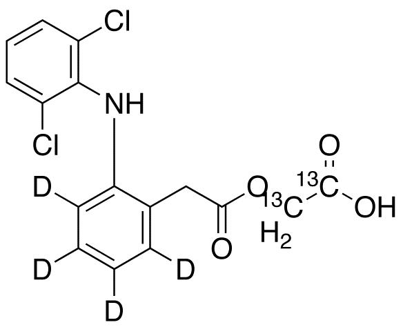 Aceclofenac-d4,13C2 (major)