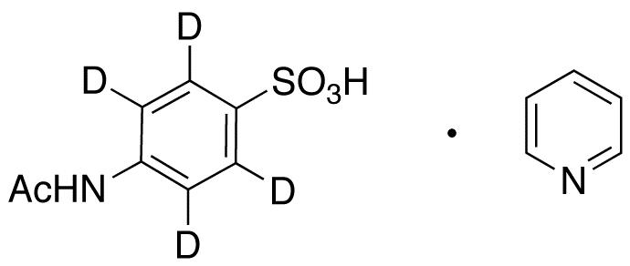 4-Acetamidobenzenesulfonic Acid-d4 Pyridine (Major)