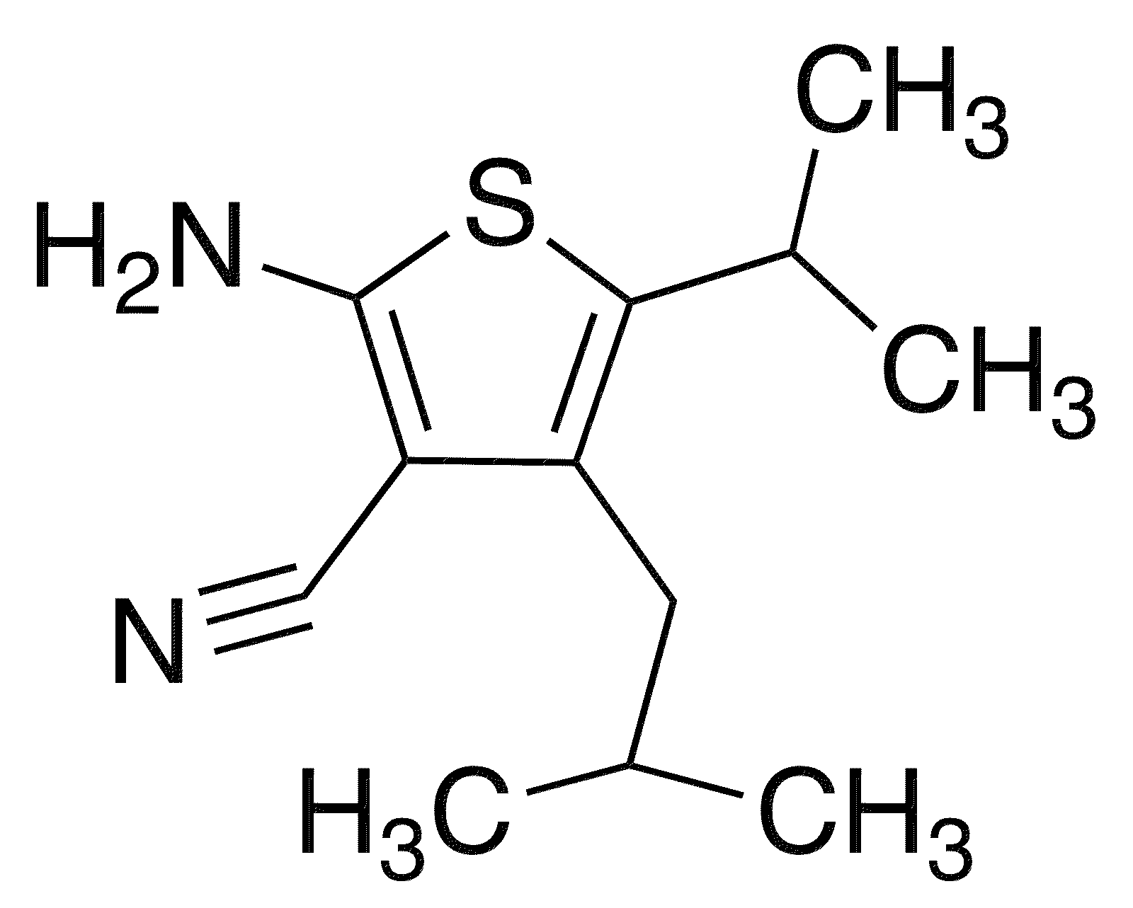 2-Amino-4-isobutyl-5-isopropylthiophene-3-carbonitrile