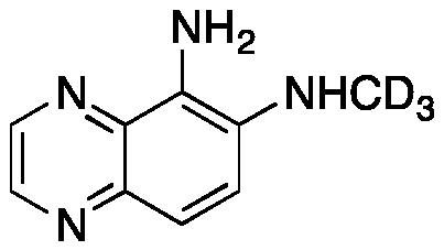 5-Amino-6-methylaminoquinoxaline-d3