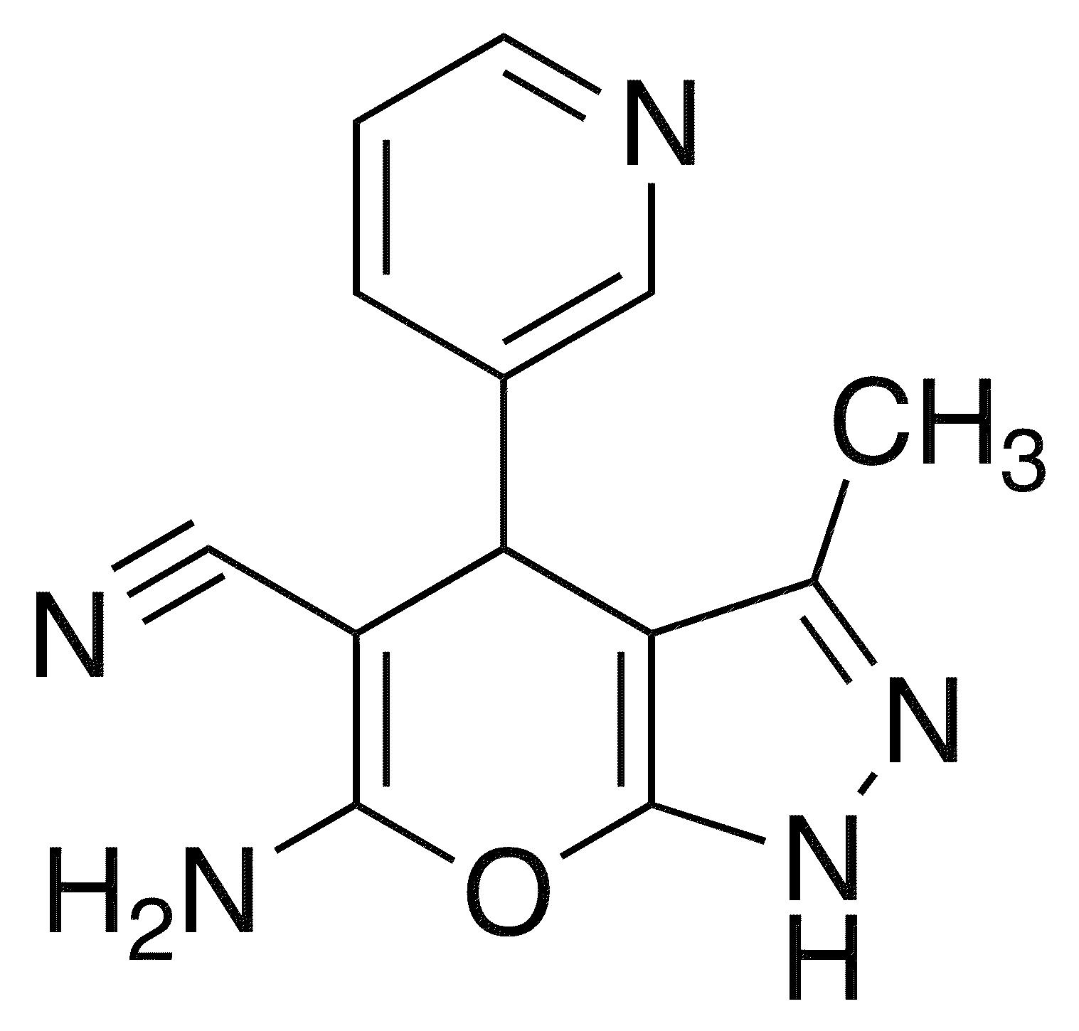 6-Amino-3-methyl-4-(3-pyridinyl)-1,4-dihydropyrano[2,3-c]pyrazole-5-carbonitrile