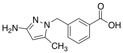 3-[(3-Amino-5-methyl-1H-pyrazol-1-yl)methyl]benzoic Acid