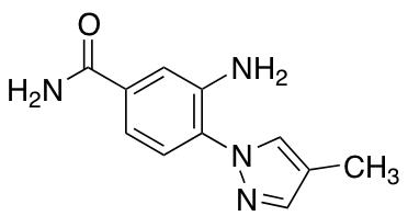 3-Amino-4-(4-methyl-1H-pyrazol-1-yl)benzamide