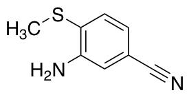 3-Amino-4-(methylsulfanyl)benzonitrile