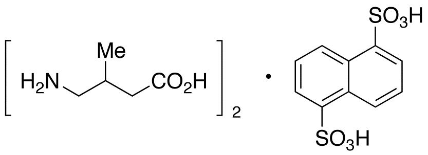 4-Amino-3-methylbutyric Acid Heminaphthalene-1,5-disulfonate