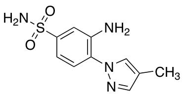 3-Amino-4-(4-methyl-1H-pyrazol-1-yl)benzene-1-sulfonamide