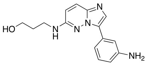 3-{[3-(3-Aminophenyl)imidazo[1,2-b]pyridazin-6-yl]amino}propan-1-ol
