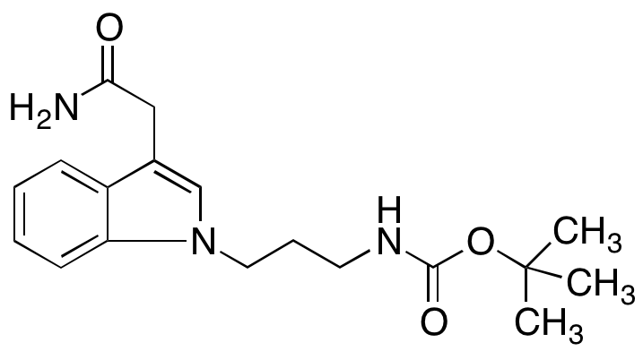 N-[3-[3-(2-Amino-2-oxoethyl)-1H-indol-1-yl]propyl]-carbamic Acid 1,1-Dimethylethyl Ester