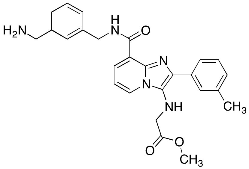 N-[8-[[[[3-(aminomethyl)phenyl]methyl]amino]carbonyl]-2-(3-methylphenyl)imidazo[1,2-a]pyridin-3-yl]glycine Methyl Ester