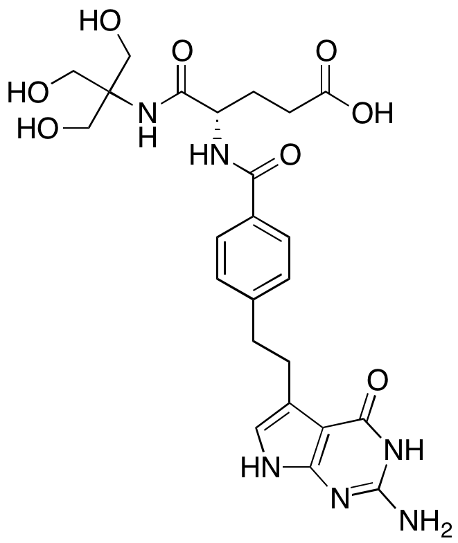 (S)-4-(4-(2-(2-Amino-4-oxo-4,7-dihydro-3H-pyrrolo[2,3-d]pyrimidin-5-yl)ethyl)benzamido)-5-((1,3-dihydroxy-2-(hydroxymethyl)propan-2-yl)amino)-5-oxopentanoic Acid
